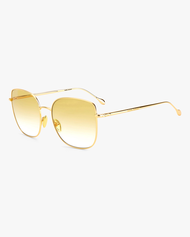 Isabel Marant Yellow Square Sunglasses 2