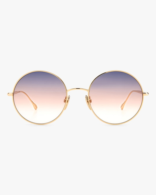 Isabel Marant Rose Gold Oval Sunglasses 0