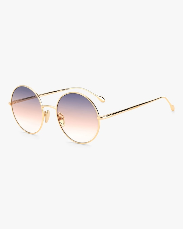 Isabel Marant Rose Gold Oval Sunglasses 1