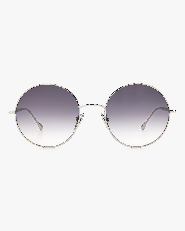 Isabel Marant Silver Oval Sunglasses 1