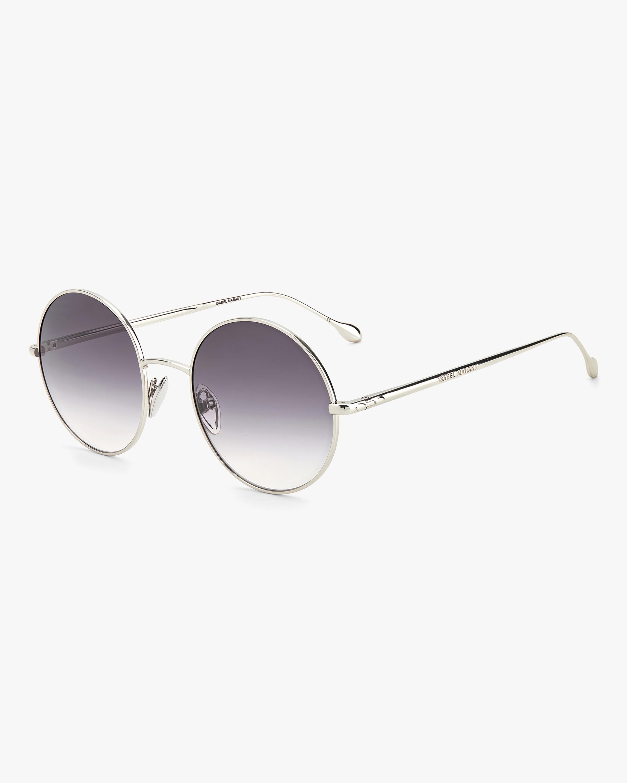 Isabel Marant Silver Oval Sunglasses 2
