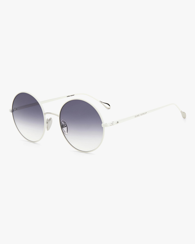 Isabel Marant Ivory Oval Sunglasses 2