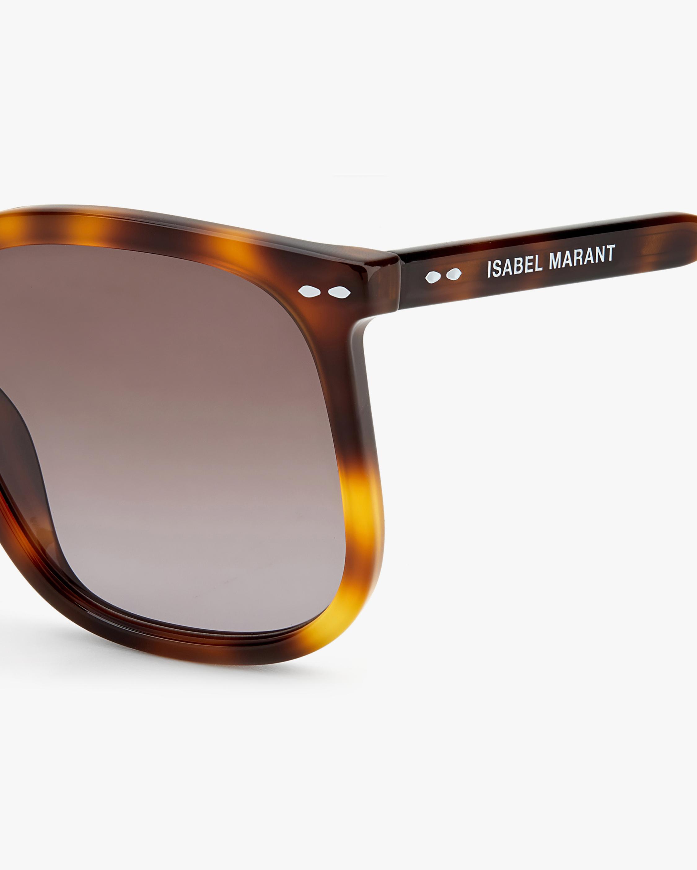 Isabel Marant Dark Havana Square Sunglasses 3