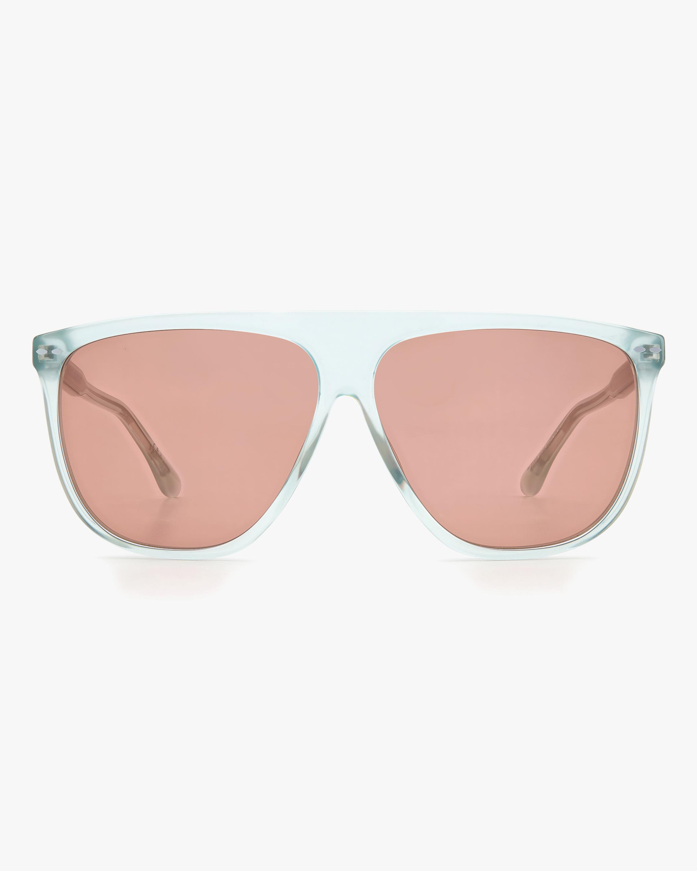 Isabel Marant Green Modified Aviator Sunglasses 0