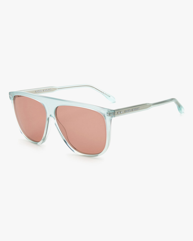 Isabel Marant Green Modified Aviator Sunglasses 2