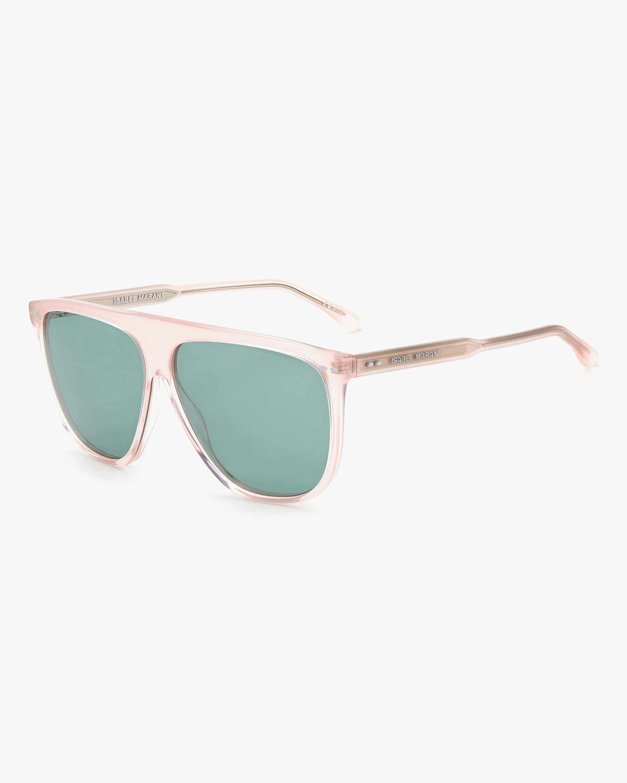 Isabel Marant Pink Modified Aviator Sunglasses 2