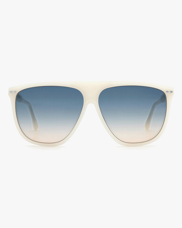 Isabel Marant Ivory Modified Aviator Sunglasses 1