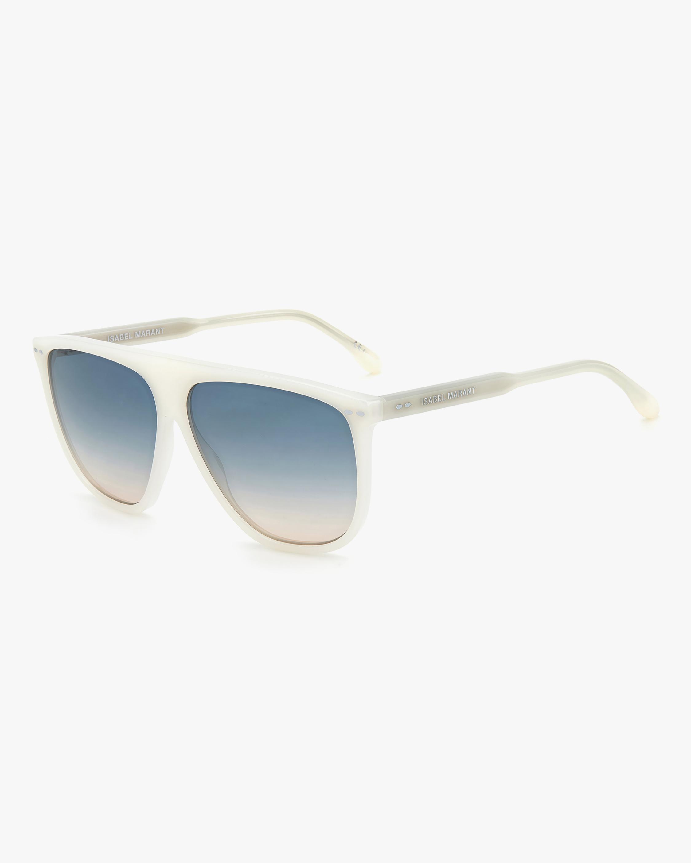 Isabel Marant Ivory Modified Aviator Sunglasses 2