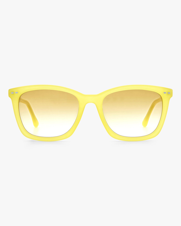 Isabel Marant Yellow Rectangle Sunglasses 0