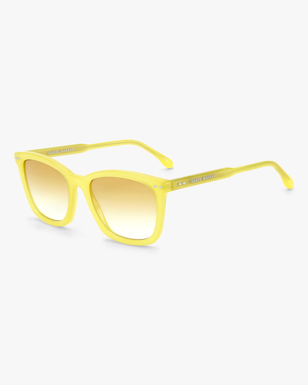 Isabel Marant Yellow Rectangle Sunglasses 2