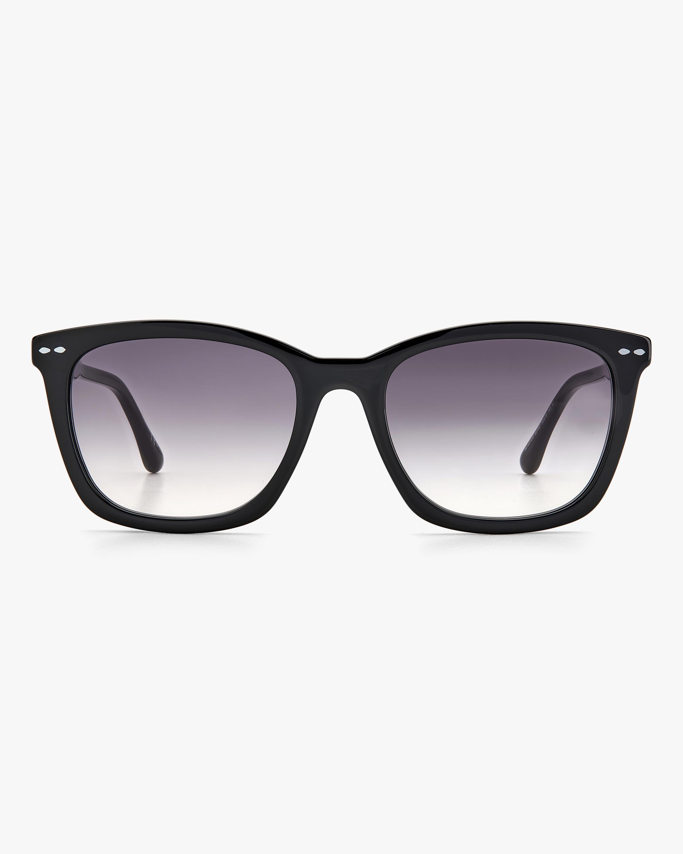 Isabel Marant Black Rectangle Sunglasses 0