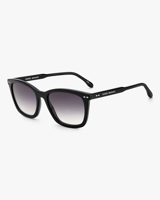 Isabel Marant Black Rectangle Sunglasses 1