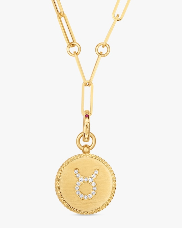 Roberto Coin Taurus Diamond Pendant Necklace 0