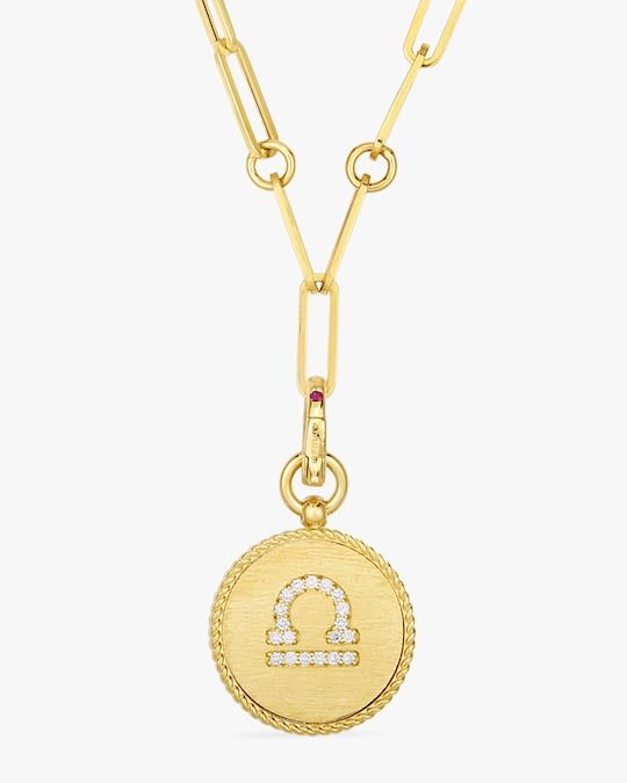 Roberto Coin Libra Diamond Pendant Necklace 0