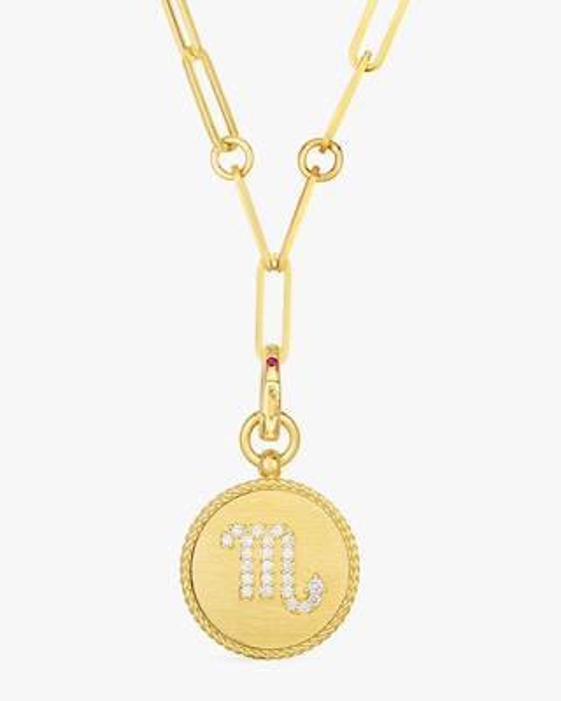 Roberto Coin Scorpio Diamond Pendant Necklace 1