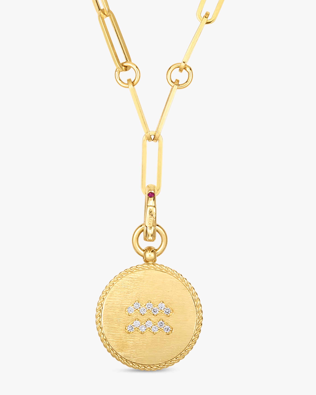 Roberto Coin Aquarius Diamond Pendant Necklace 1