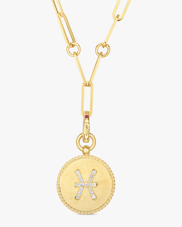 Roberto Coin Pisces Diamond Pendant Necklace 0