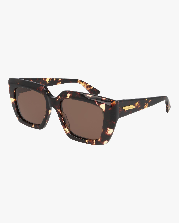 Bottega Veneta Havana Square Sunglasses 2