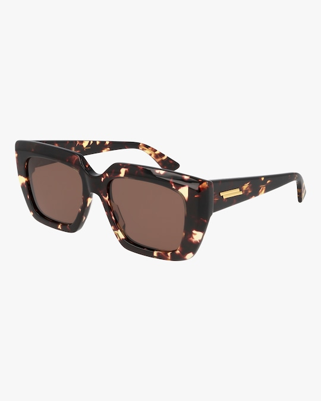 Bottega Veneta Havana Square Sunglasses 0