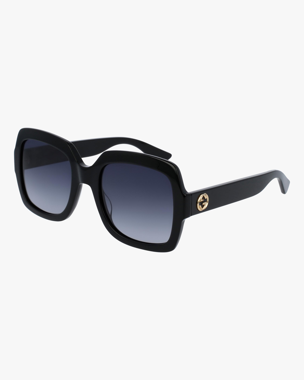 Gucci Black Oversized Square Sunglasses 0