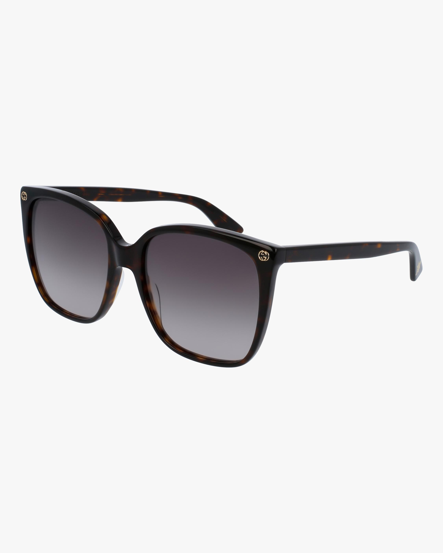 Gucci Havana Square Sunglasses 0