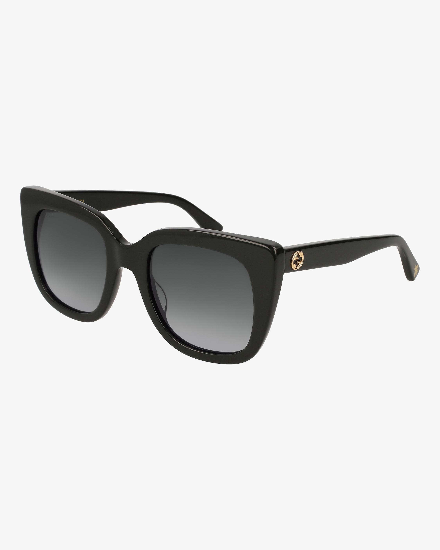 Gucci Black Cat-Eye Sunglasses 0