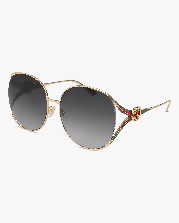 Gucci Gold Oval Sunglasses 2