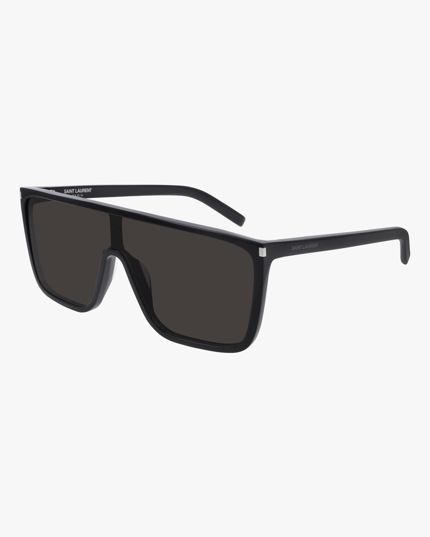 Saint Laurent Black Shield Sunglasses 2
