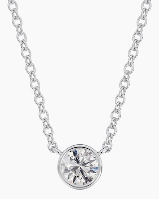 De Beers Forevermark The Forevermark Tribute™Collection Round Diamond Necklace 1