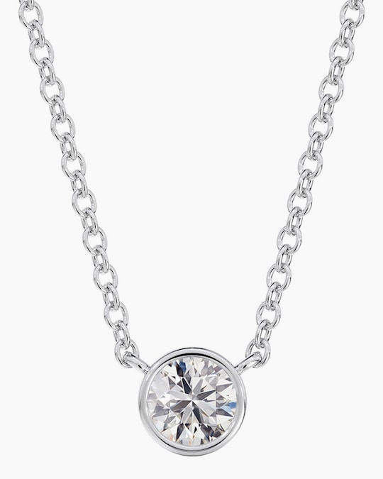 De Beers Forevermark The Forevermark Tribute™Collection Round Diamond Necklace 0