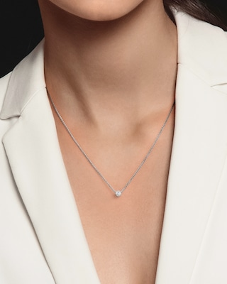 De Beers Forevermark The Forevermark Tribute™Collection Round Diamond Necklace 2