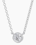 De Beers Forevermark The Forevermark Tribute™Collection Round Diamond Necklace 3