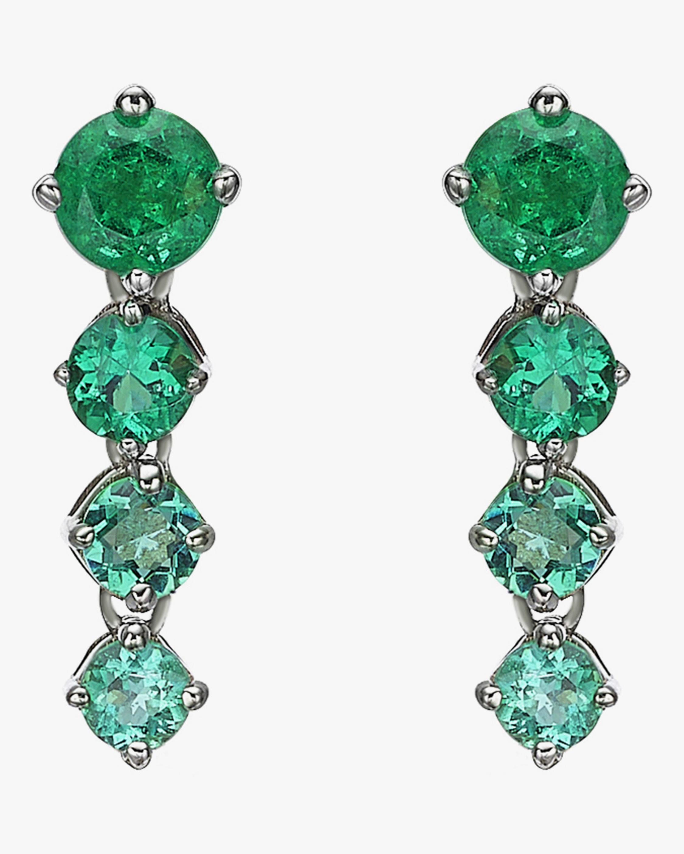 Chérut Chained Ombré Emerald Earrings 1