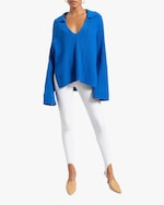 Leset Zoe Cable V-Neck Pullover 1