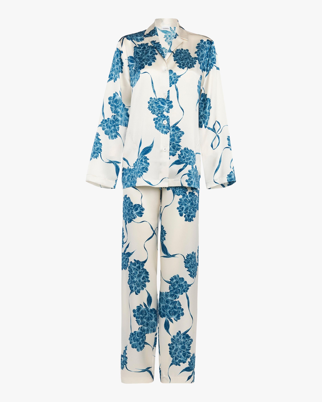 La Perla Floral Long Silk Pajama Set 0