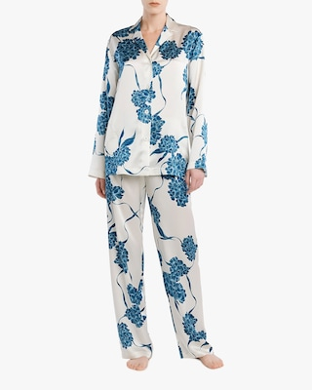 La Perla Floral Long Silk Pajama Set 2