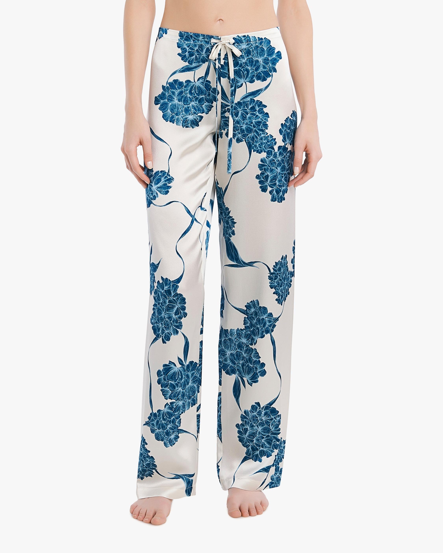 La Perla Floral Long Silk Pajama Set 3