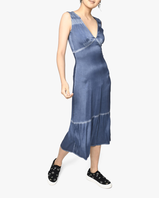 Nicole Miller V-Neck Midi Dress 0