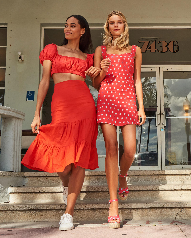 Nicole Miller Sunset Star Linen Mini Dress 4