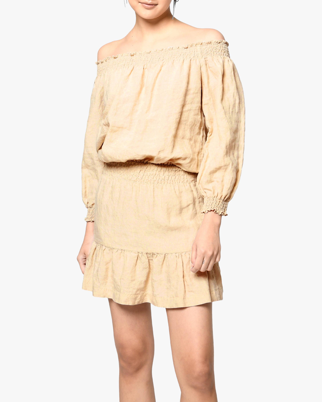 Nicole Miller Linen Off-Shoulder Dress 1