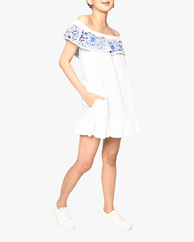 Nicole Miller Magnolia Lei Off-Shoulder Dress 0