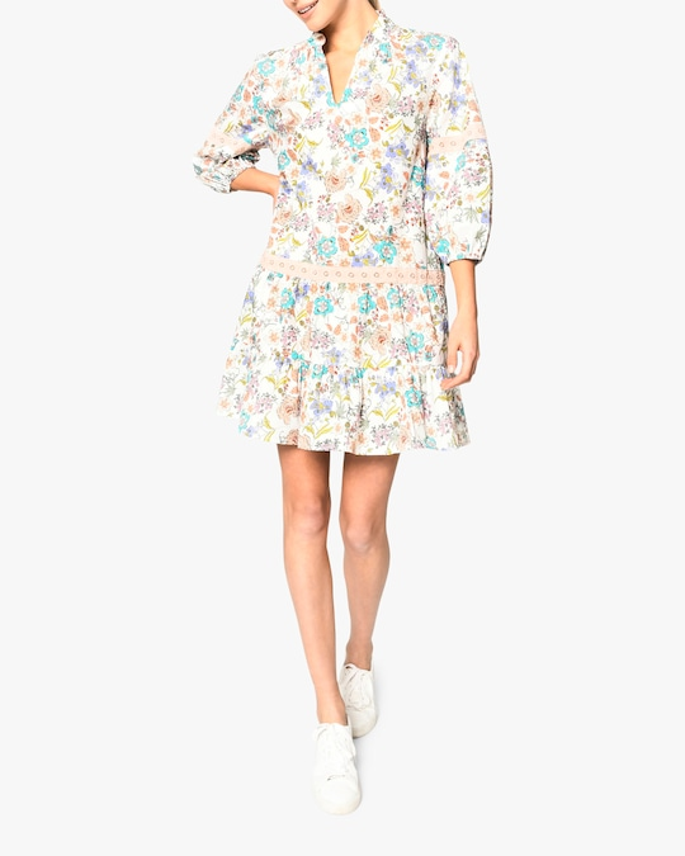 Nicole Miller Jasmine Floral Shift Dress 0