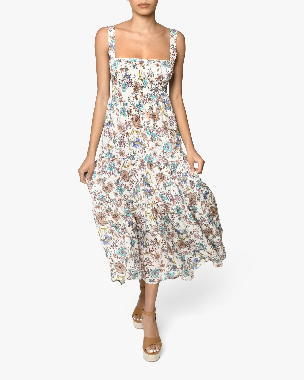 Nicole Miller Jasmine Floral Smocked Maxi Dress 1