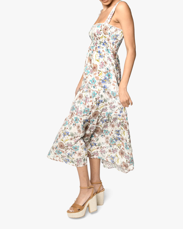 Nicole Miller Jasmine Floral Smocked Maxi Dress 2