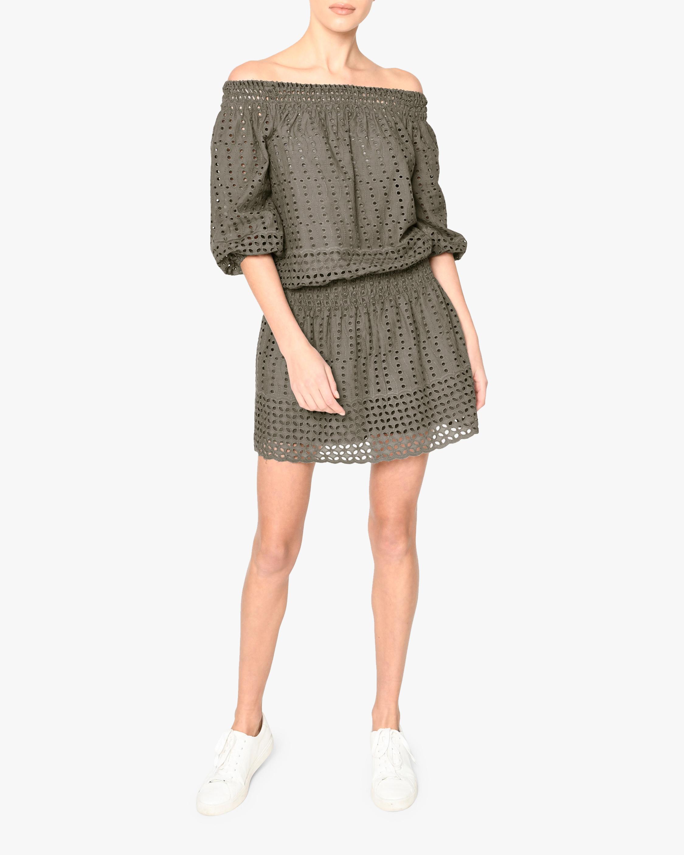 Nicole Miller Eyelet Off-Shoulder Dress 0