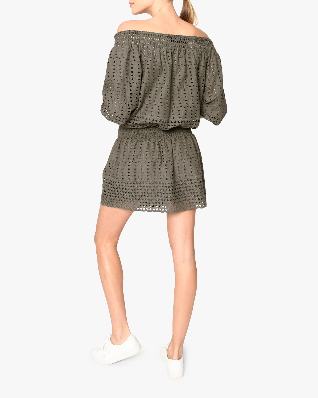 Nicole Miller Eyelet Off-Shoulder Dress 1