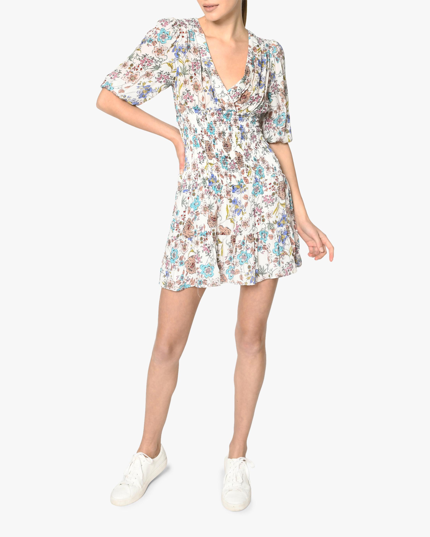 Nicole Miller Jasmine Floral Smocked Mini Dress 0