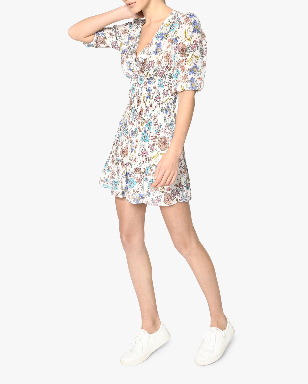Nicole Miller Jasmine Floral Smocked Mini Dress 1