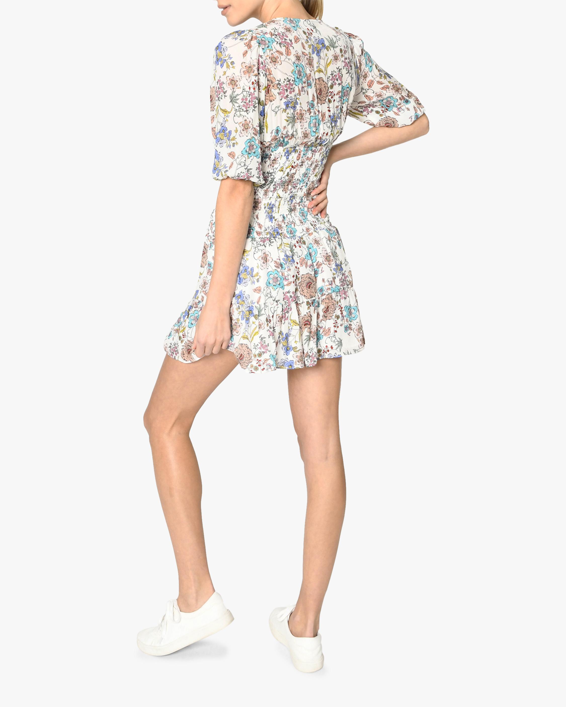 Nicole Miller Jasmine Floral Smocked Mini Dress 2