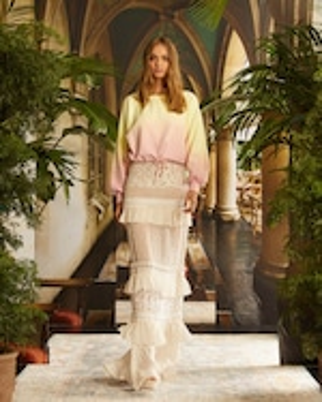 Nicole Miller Embroidered Silk Maxi Skirt 2
